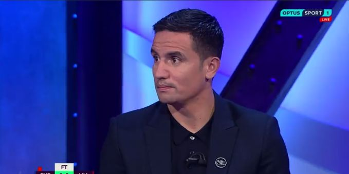 (Video) Everton legend Cahill slates VAR for not reviewing Pickford's tackle on van Dijk
