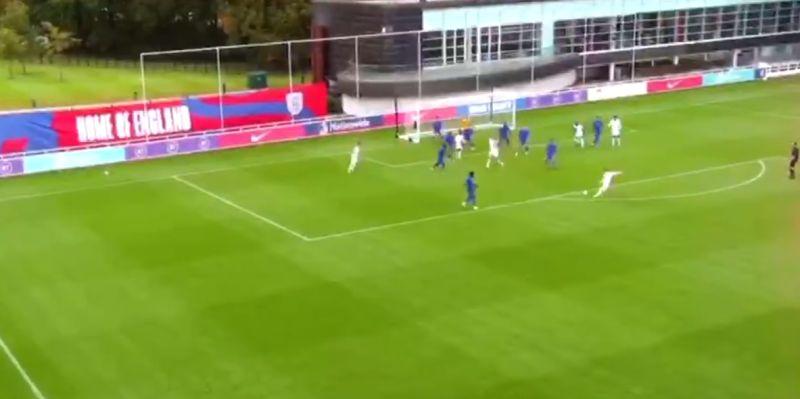 (Video) Harvey Elliott slams half-volley beyond 'keeper from 20 yards in England training