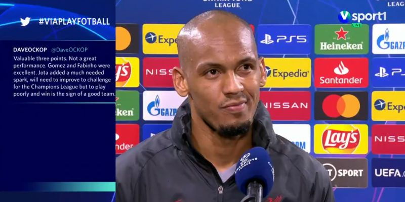 (Video) Fabinho gives excellent interview in English after dropping world-class performance