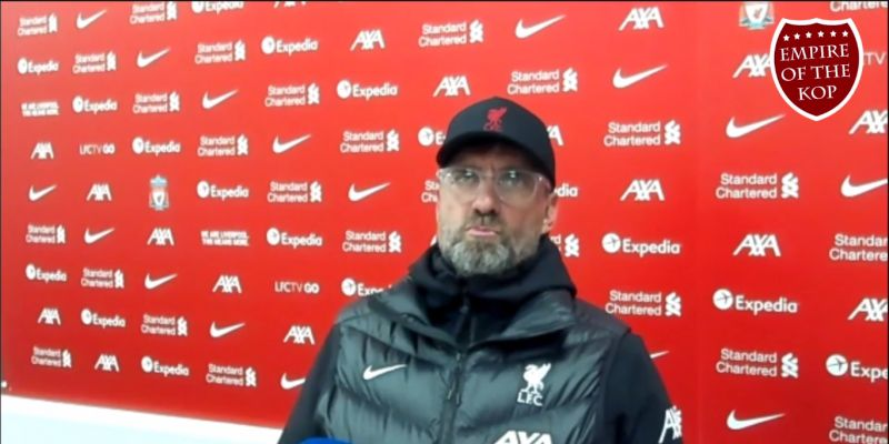 "(Video) ""It doesn't feel right…"": Klopp's x-rated response to setting new Anfield record without fans"