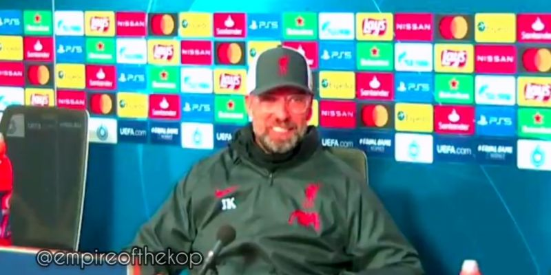 "(Video) ""He likes it, actually!"" – Jurgen Klopp lauds Fabinho, who is happy in new position"