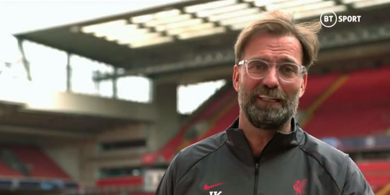 "(Video) ""Not enough time to praise you appropriately"": Klopp lauds Lallana as former LFC star makes surprise appearance"