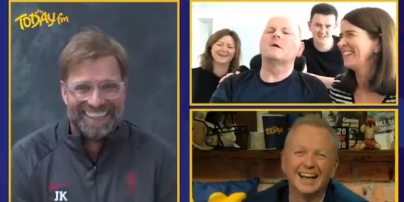 "(Video) ""A Scouser is an Irishman who can swim!"": Jurgen Klopp talks to Seán Cox & family about LFC's roots"