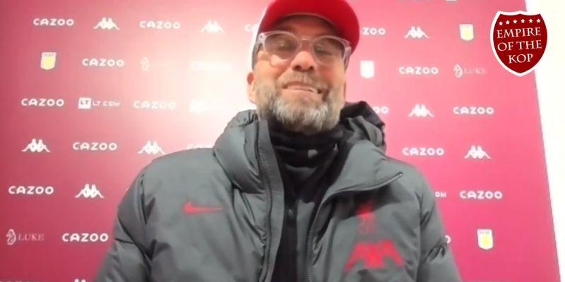 "(Video) Klopp labels LFC squad ""unlucky"" after 7-2 thrashing at Villa Park"