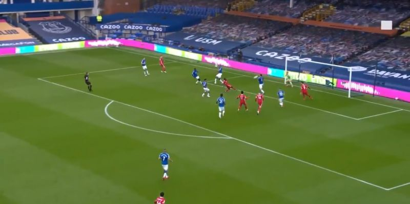 (Video) Mane slams early chance beyond Pickford after brilliant build-up play by Robbo