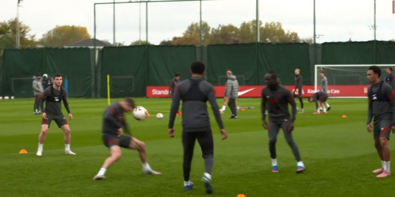 "(Video) ""Good, James!"": Milner intercepts pass with his head in rondo drill to Robbo's delight"