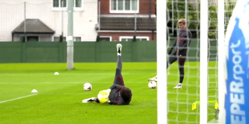 (Video) Footage of new Liverpool goalkeeper Pitaluga in training emerges
