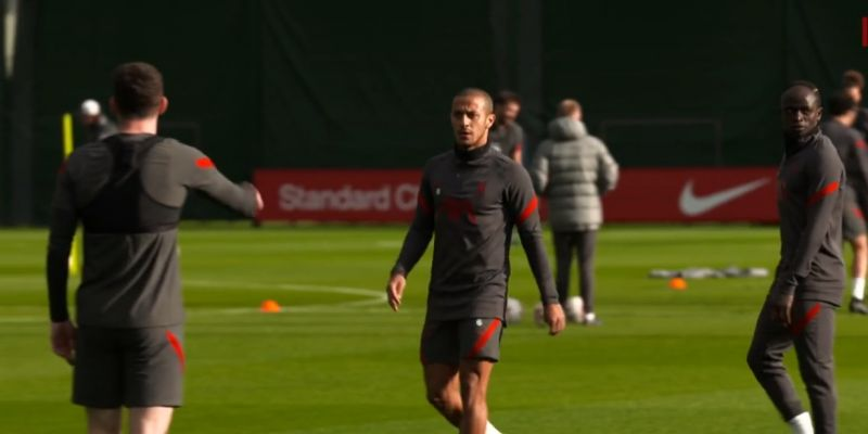 """(Video) """"Thiago, put the fear in them,"""" Robbo instructs midfielder at Melwood"""