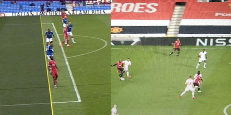 (Images) Dodgy Man Utd goal highlights stupidity of VAR's offside call on LFC