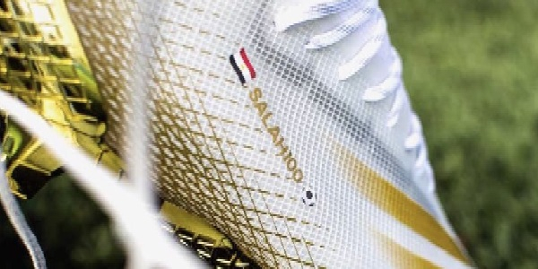 (Photos) Mo Salah's new commemorative 100-goal golden boots are glorious
