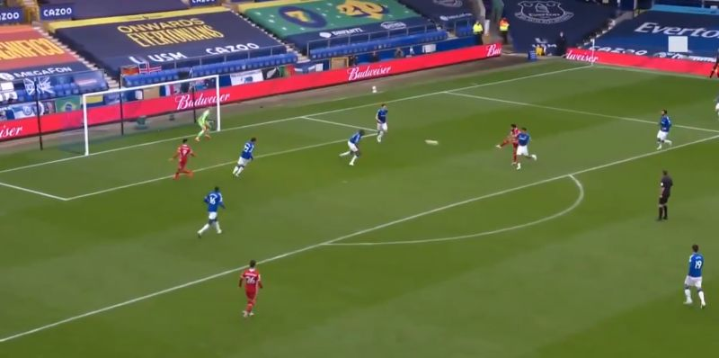 (Video) Salah scores 100th LFC goal in Merseyside Derby with half-volley out of nothing