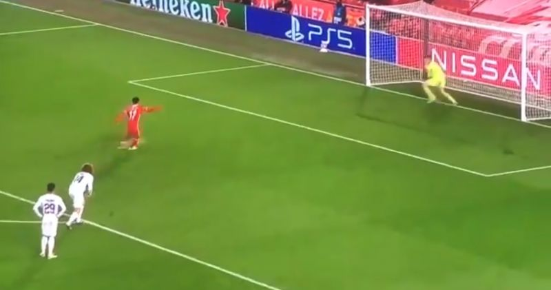 (Video) Salah slams home last-minute penalty to send Liverpool to top of UCL group