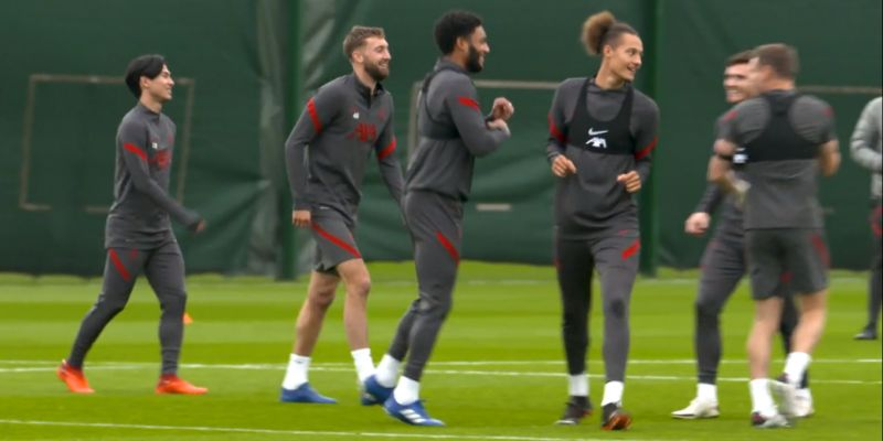 (Video) Two U23 centre-backs train with Liverpool senior squad ahead of Ajax match