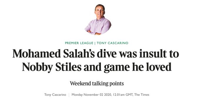 Disgraceful football writer uses death of Man Utd legend to lay into Mo Salah