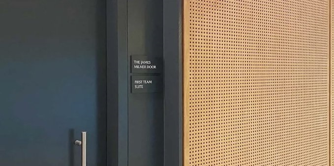 (Photo) Liverpool midfielder has door named after him at new training ground following suggestion