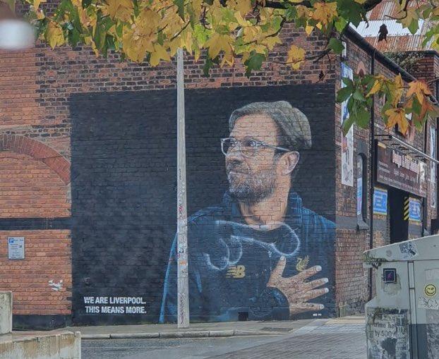 (Photo) Idiots deface brilliant Jurgen Klopp mural in Liverpool