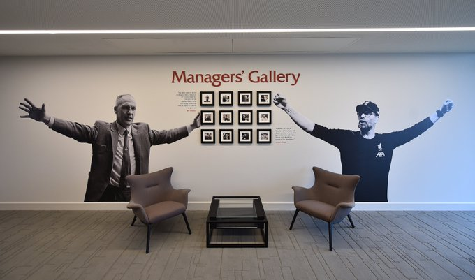 (Photo) Shankly & Klopp feature in glorious Managers' Gallery at LFC's new training centre in Kirkby