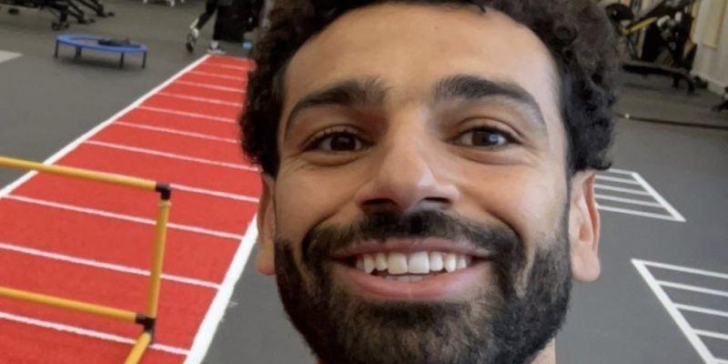 (Photo) Mo Salah returns to Liverpool training ahead of Champions League clash after testing negative for COVID-19
