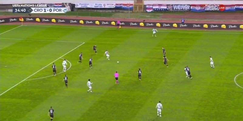 (Video) LFC's Diogo Jota leaves Croatia defender in the dust with world-class skill move