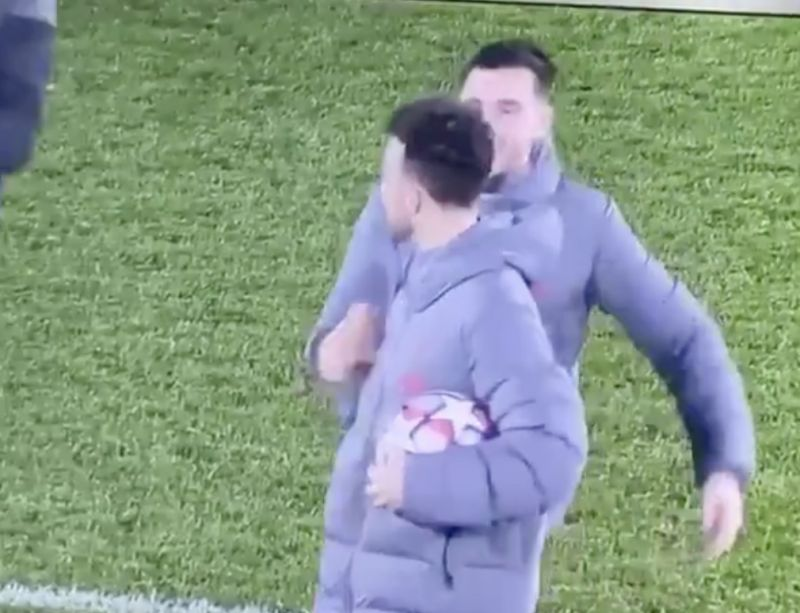 (Video) Robbo and Jota share a cute moment after Diogo gets hat-trick ball