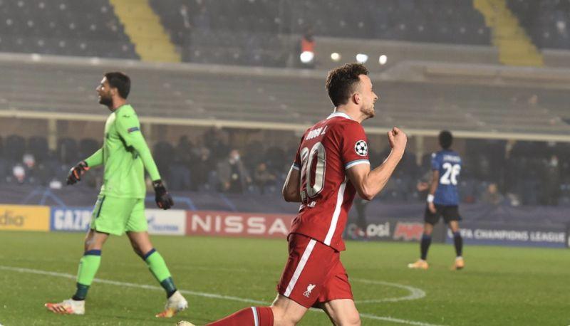 (Video) Diogo Jota v Atalanta highlights: Wow, wow, wow, wow…