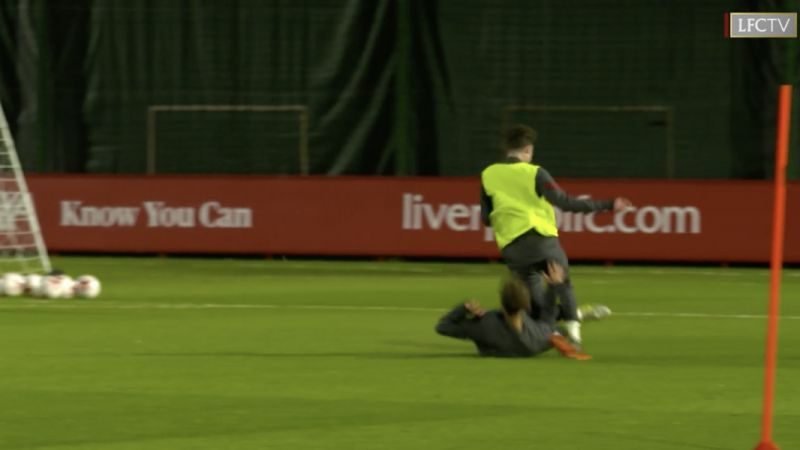 (Video) Tsimikas makes quality sliding tackle at Melwood; LB doing well and will provide great rotation option after international break