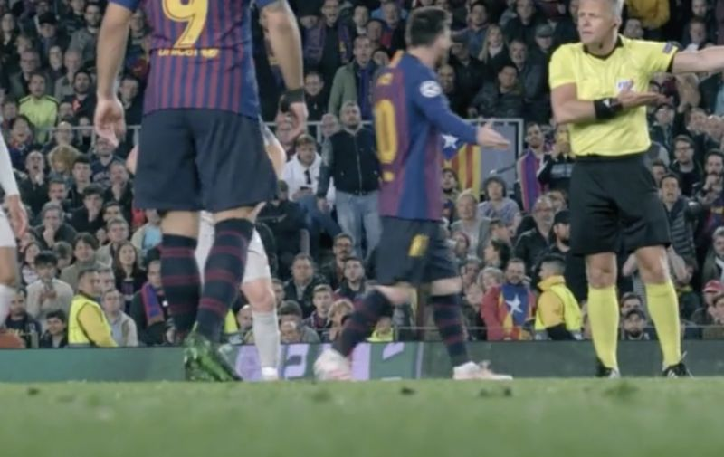 (Video) New footage shows referee screaming at Messi to 'show Liverpool respect' in Barcelona Champions League tie