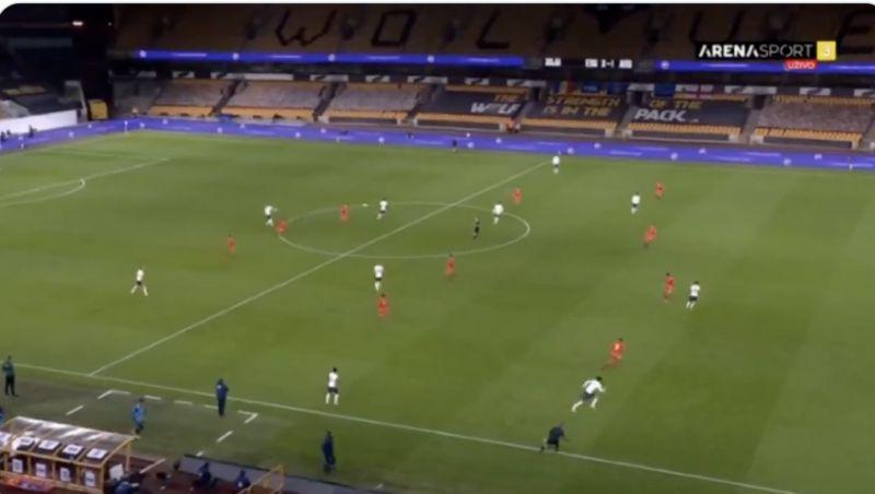 (Video) Rhys Williams spraying it about like Virgil van Dijk for England U21s