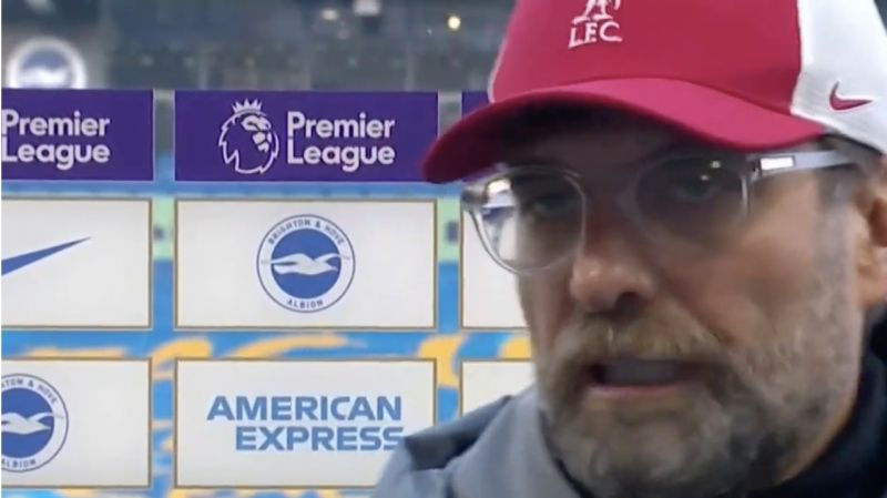 (Video) Furious Klopp has big fight with Des Kelly post-match in stunning interview