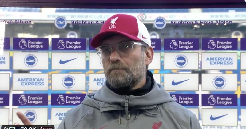 (Video) Klopp finishes 'selfish' Chris Wilder: 'They have three subs and one point…'