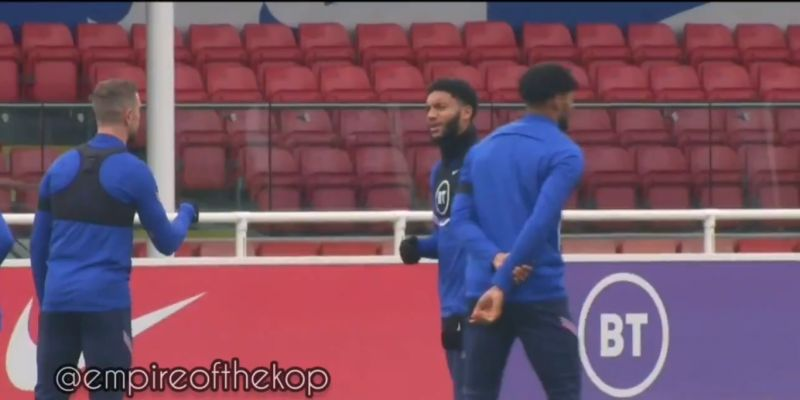(Video) Footage of Joe Gomez in England training before picking up serious injury