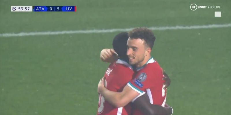 (Videos) Watch all five goals as Liverpool thrash Atalanta and Jota bags hat-trick