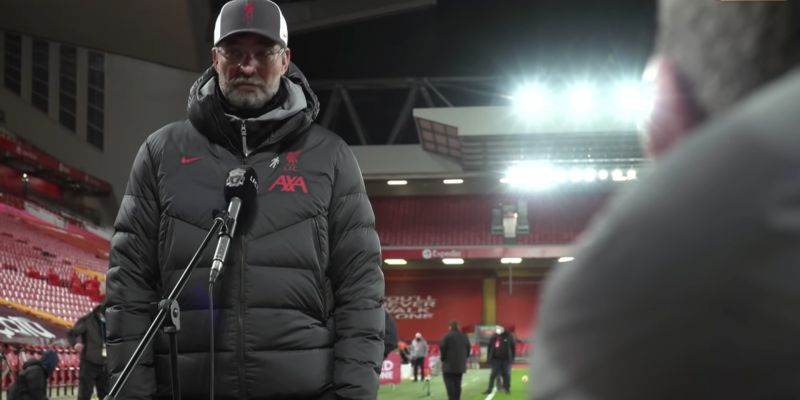 (Video) Jurgen Klopp says Liverpool should be two points clear at the top of the table