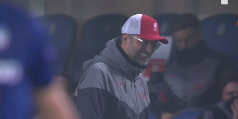 (Video) Klopp can't help but laugh as Robbo fires absolute stinker of a shot goalward from range
