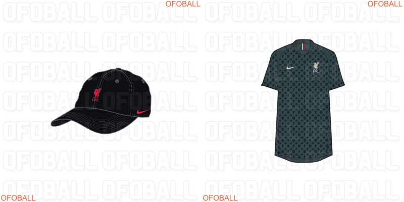 (Images) Massive Nike & LFC leak as 87 designs are dumped online – including hats, hoodies & training kits for 2021/22