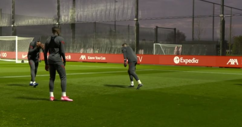 (Video) Milner smashes Matip in the face on first day at new training centre