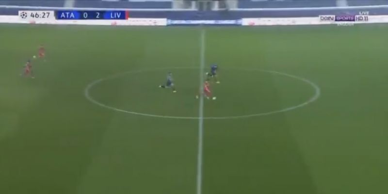 (Video) Mo Salah runs with ball from halfway line and scores v Atalanta as Liverpool go crazy