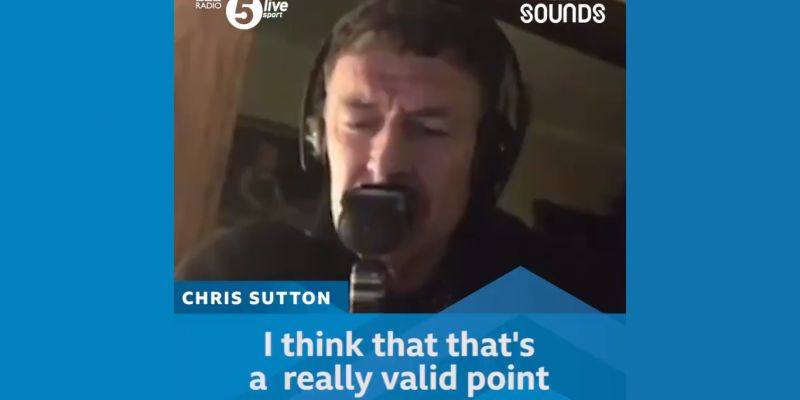 Chris Sutton makes a fool of himself by agreeing with idiot moaning about Liverpool (with video)