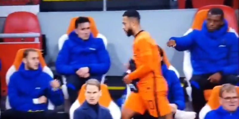 (Video) Wijnaldum shows Depay why you don't leave him hanging for a fist-bump in funny clip