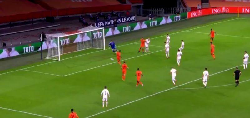 (Video) Wijnaldum makes intelligent run before scoring very neat goal for the Netherlands