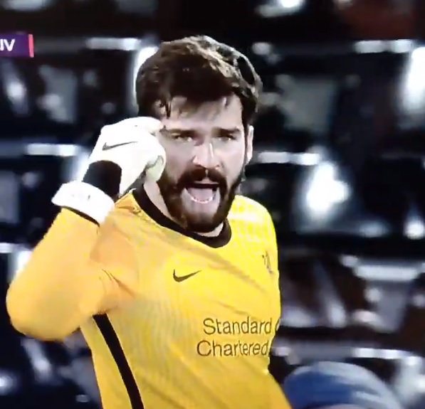 (Video) Alisson palms away early effort after Cavaleiro's pace rips LFC's defence apart