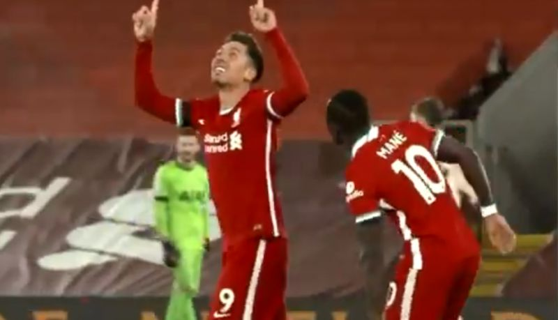 (Video) Firmino shares wonderful moment with fans after scoring match-winner