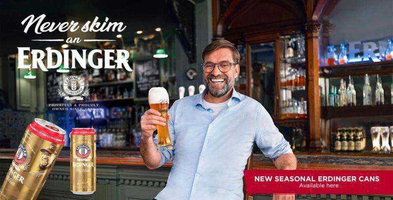Celebration Edition ERDINGER Weissbier can released for the festive season