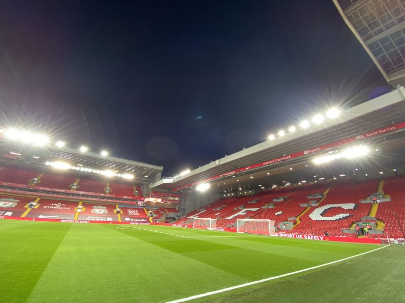 (Photo) Liverpool make public stand against racism with Anfield projection