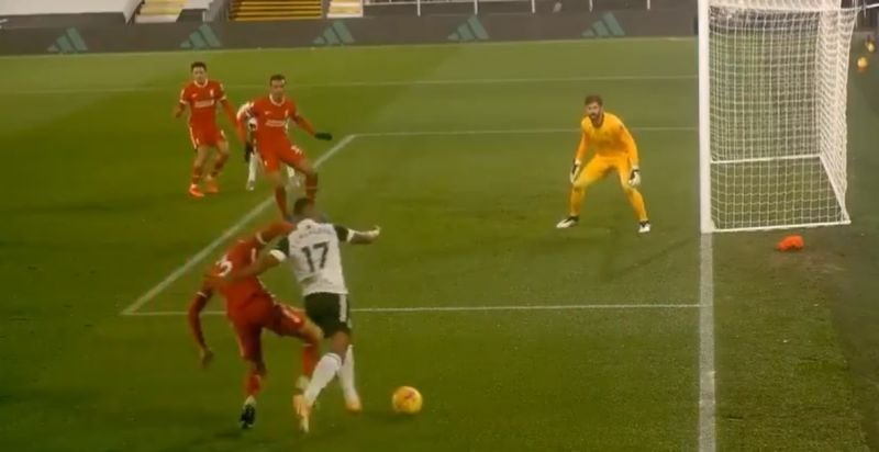 (Video) VAR call goes in LFC's favour, following Fabinho penalty-box tackle