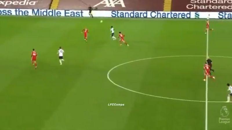 (Video) Fabinho's brick wall impersonation in colossal Tottenham highlights