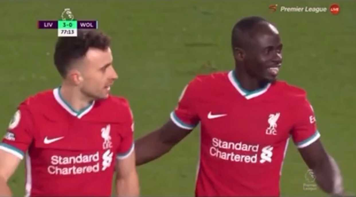 (Video) Jota disappointed Mane's strike was given as a Wolves own goal in unseen clip