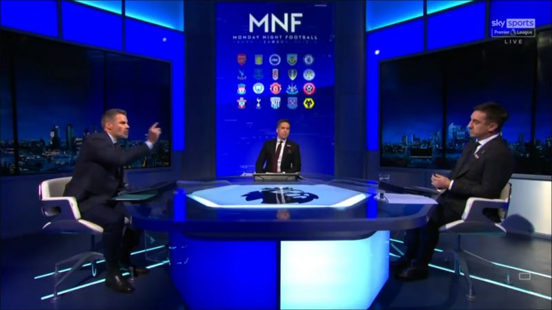 (Video) Carra and Neville's stunning MNF row over Klopp and Covid goes viral