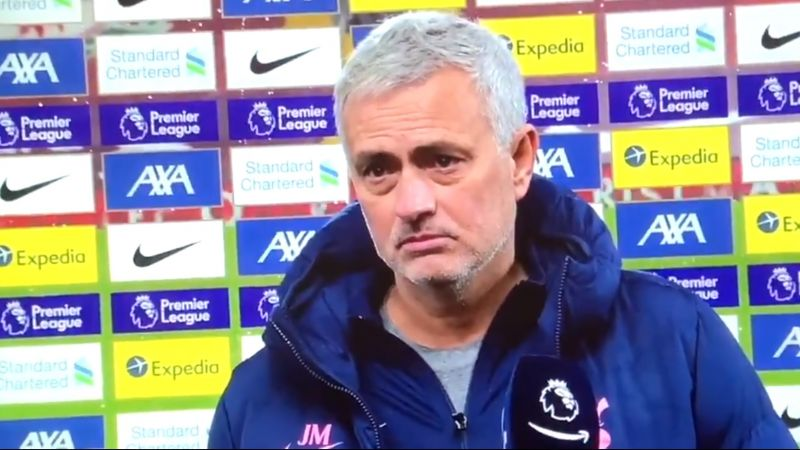 (Video) Bitter Mourinho sends for Klopp and tries to start a War of Words in post-match interview