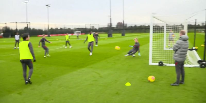 (Video) Kelleher pulls off wonderful double-save in LFC training as Irishman reminds Klopp of his class